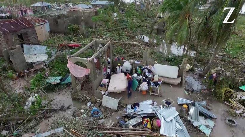 Drohnenaufnahmen: Was in Haiti nach Hurrikan Matthew blieb