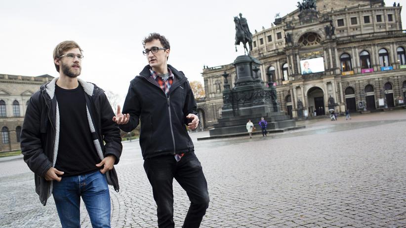Straßengezwitscher: Die Gründer des Journalismus-Projektes Straßengezwitscher: Alexej Hock und Johannes Filous.