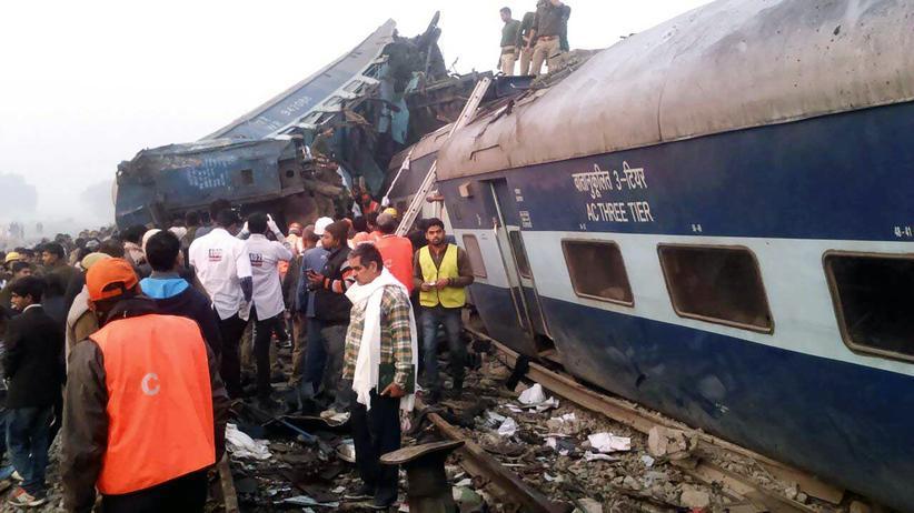 Indien: Viele Tote bei schwerem Zugunglück