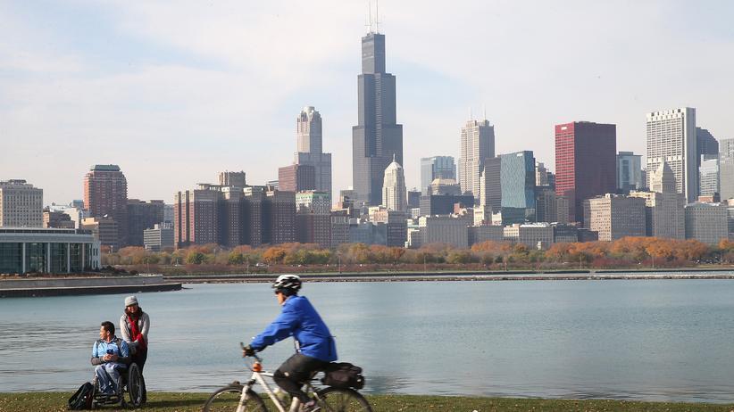 Soziale Absicherung: Die Skyline von Chicago mit dem Willis Tower.