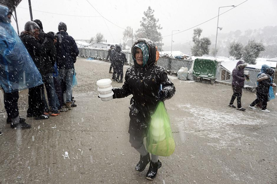 Flüchtlinge, Winter, Griechenland, Balkanroute