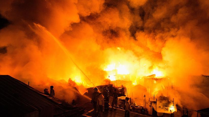 Philippinen: Flammen im Tondo-Distrikt der philippinischen Hauptstadt Manila