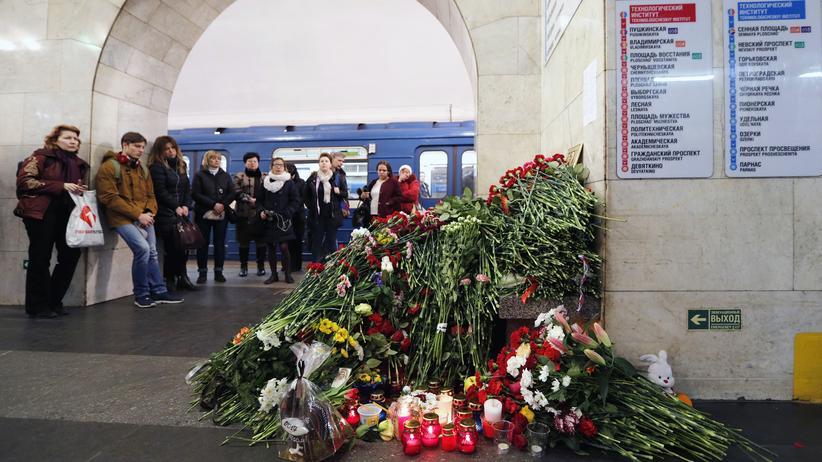 Anschlag in St. Petersburg: Gedenken an die Opfer des Anschlages in St. Petersburg