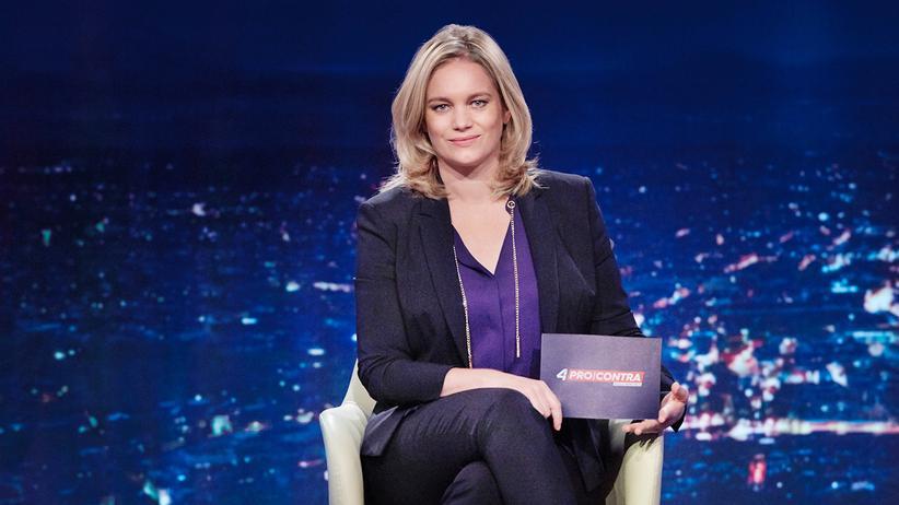 Corinna Milborn: Die österreichische Fernseh-Moderatorin will mit Felix Baumgartner in ihrer Sendung diskutieren.