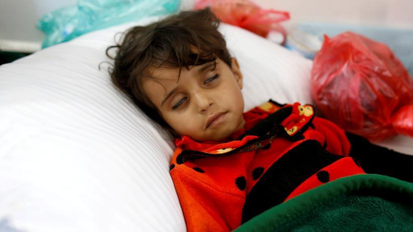 Jemen: Ein an Cholera erkranktes Kind in der jemenitischen Hauptstadt Sanaa