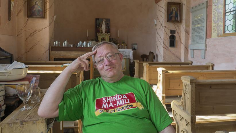 Unterflossing: Otto Masszi lud die Heilige Maria nach Unterflossing ein.