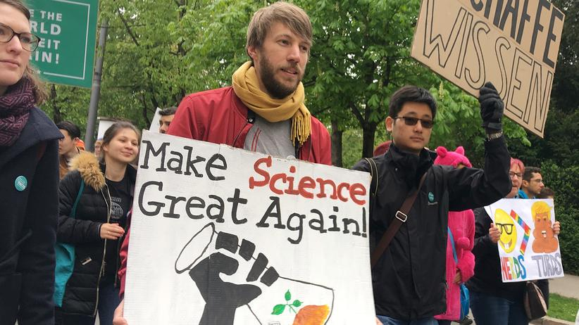 Bildungsministerium: March for Science in München, April 2017