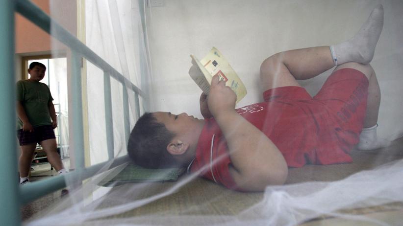 Übergewicht: Ein Kind in einem Sommercamp zum Abnehmen in der chinesischen Provinz Hubei