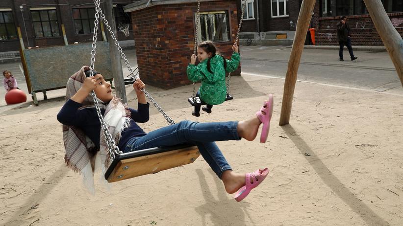 EU-Asylpolitik: Kinder in einer Asylunterkunft in Berlin