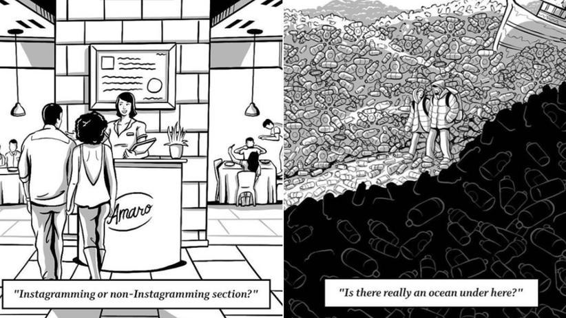 Cartoons über die Zukunft: Lachend in den Untergang