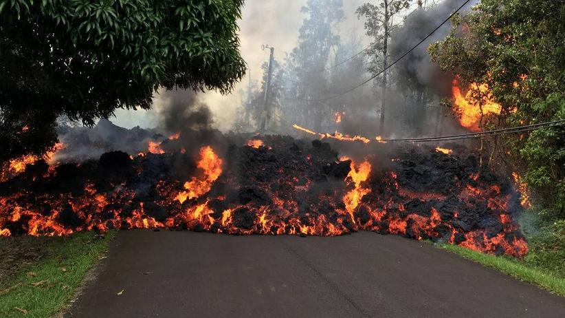 Vulkan Kilauea: Auf Hawaii versuchen die Menschen, neben riesigen Lavaströmen zu leben