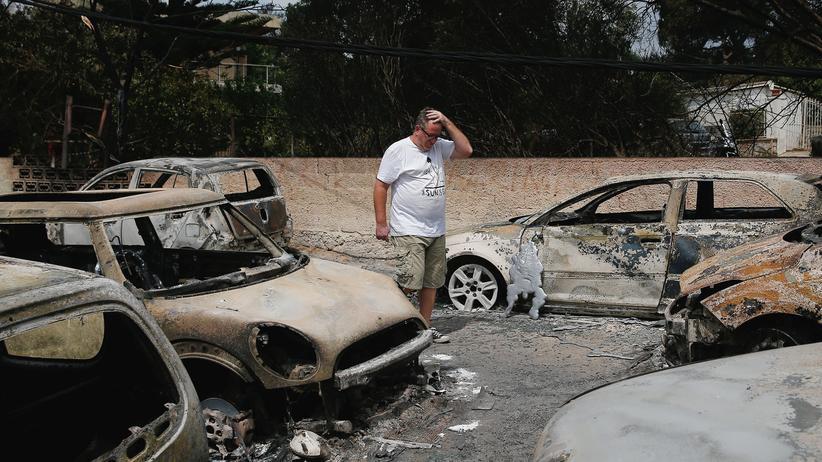 Waldbrände bei Athen: Brandstifter sollen Feuer in Griechenland ausgelöst haben