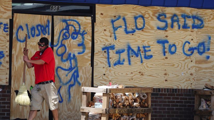 Florence: Tausende bringen sich vor Hurrikan in Sicherheit