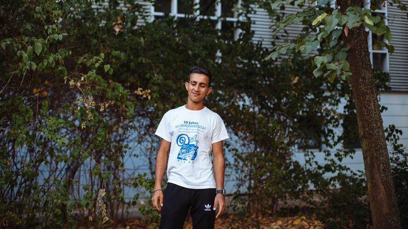 Frankfurt (Oder): Adnan, 18, flüchtete mit seinen Eltern und seinen Geschwistern aus Syrien.