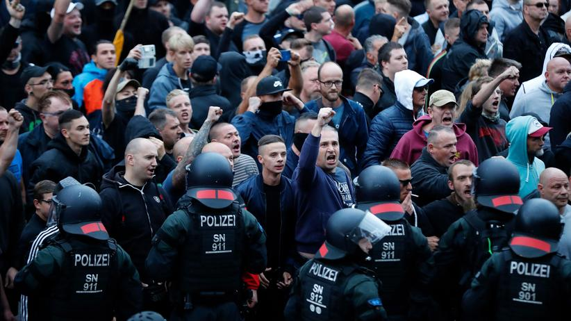 Rechtsextremismus: Echte Demonstranten in Chemnitz