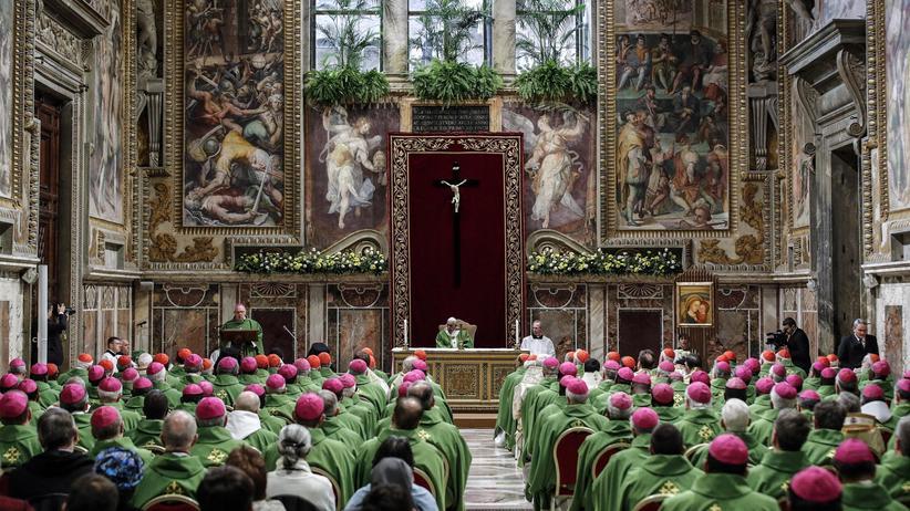 Katholische Kirche: Papst Franziskus im Vatikan am letzten Tag der Antimissbrauchskonferenz der katholische Kirche