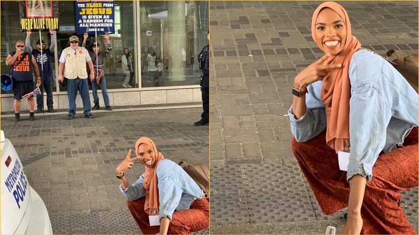 Instagram: So lächelt eine junge Muslima den Islamhass weg