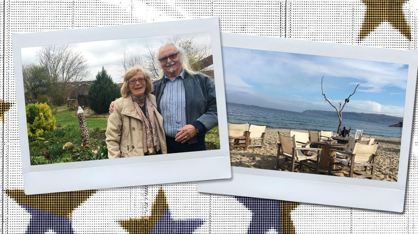 Retired in the EU: Hildegard and Waldemar Hackstätter in their yard. The Black Sea is only 30 minutes away.