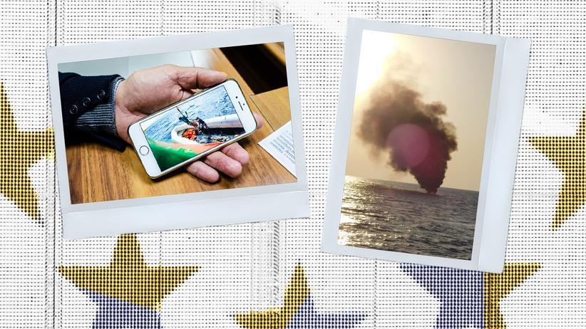 Seenotrettung: Pietro Gallo hat bis heute Aufnahmen von den Rettungsaktionen auf seinem Handy.