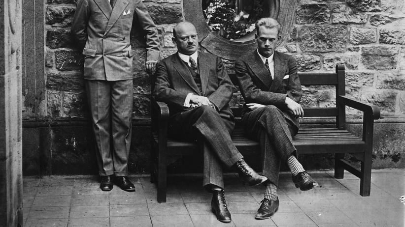 AfD: Gustav Stresemann (Mitte) zusammen mit seinen Söhnen