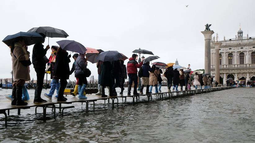 Hochwasser: Venedig unter Wasser