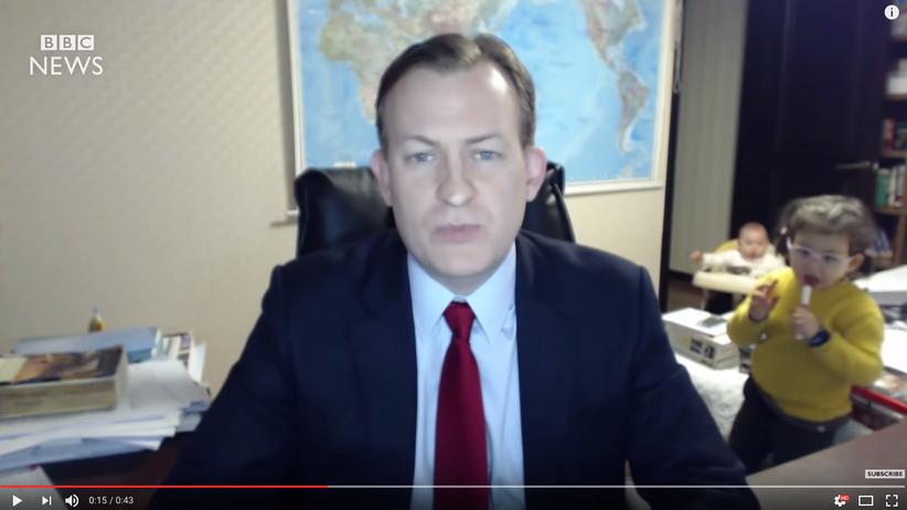 Live aus dem Homeoffice: Wenn der Inhalt des TV-Interviews zur Nebensache wird