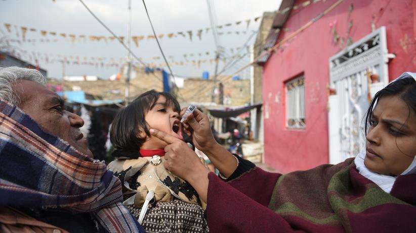 Kinderlähmung: Die landesweite Impfkampagne soll die Virusinfektion ausrotten.