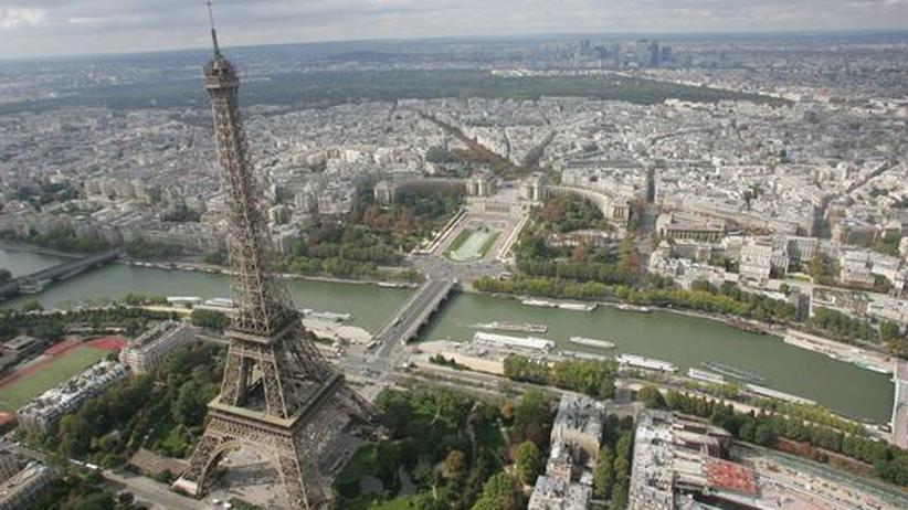 Blick auf Paris und Vororte