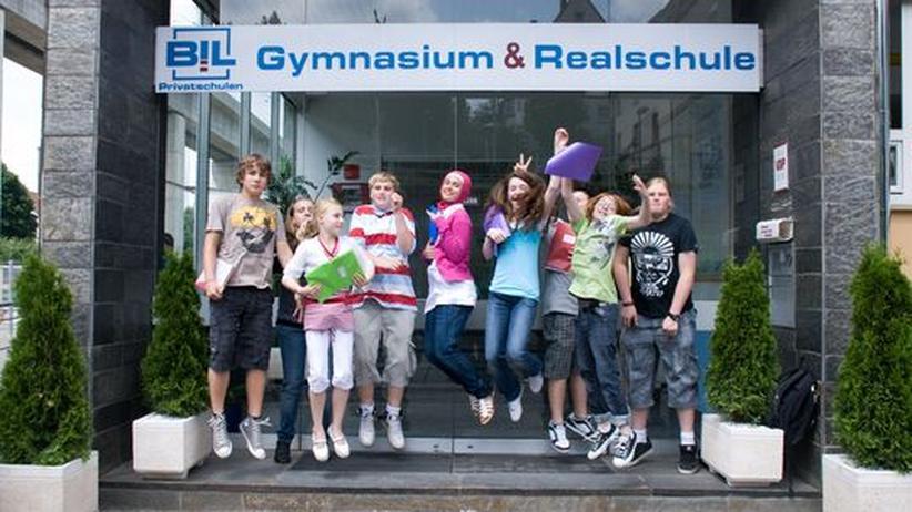 Schüler der BiL-Privatschule in Bad Canstatt
