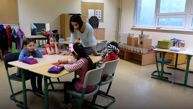 Flüchtlinge: Ans Lehrerpult gebüffelt