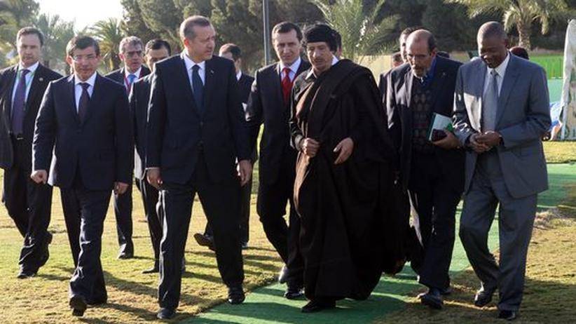 Moamer Kadhafi in Lybien