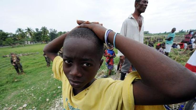 Junge in Haiti