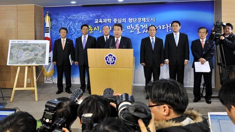 Ehrgeiziges Vorhaben: Südkoreas Premier Chung Un Chan erläutert in Seoul die Pläne für Sejong City