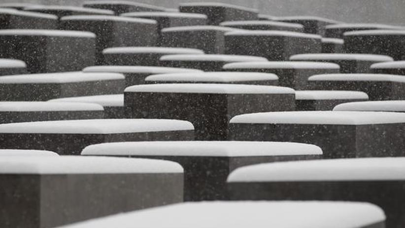 Holocaustgedenktag: Das Berliner Denkmal für die ermordeten Juden Europas im Winter