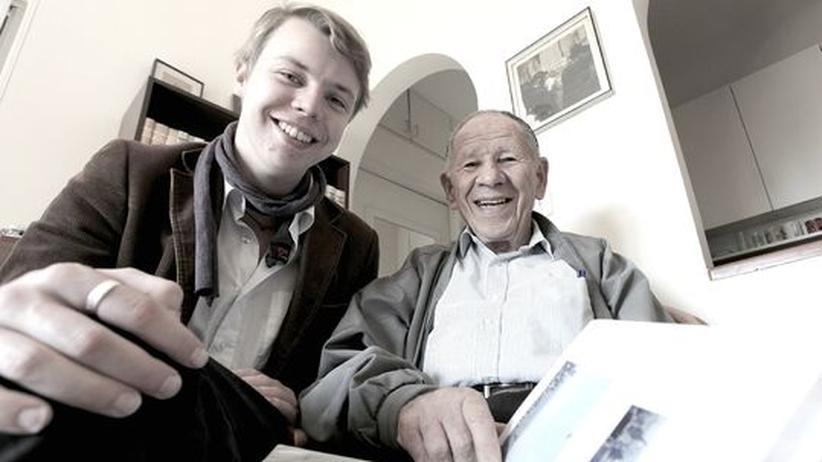 Gabriel Goldschmidt und Jakob Odenwald in Beit Bart, Jerusalem.