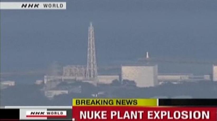 Fukushima-1: Fernsehbilder deuten darauf hin, dass Teile der Gebäudehülle des Reaktors Fukushima-1 weggebrochen sind