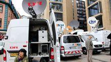 Journalisten belagern in Oslo das Gericht, in dem Breivik vernommen wurde