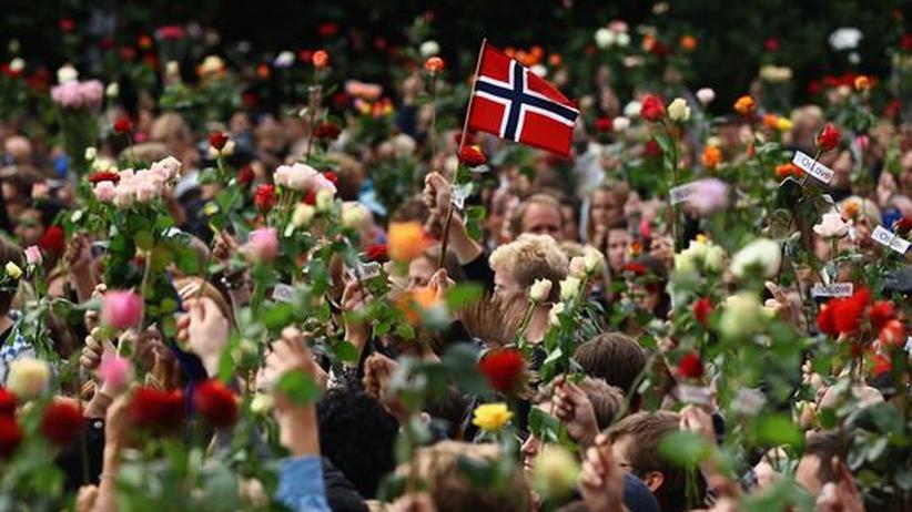 Nach den Attentaten: Hunderttausende trauern in Oslo