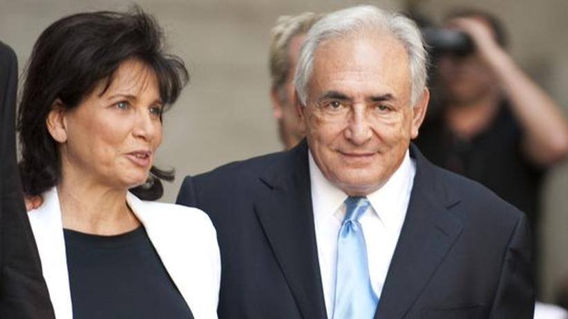 Dominique Strauss-Kahn: Dominique Strauss-Kahn und seine Frau Anne Sinclair