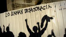 "Demonstranten der Jugendbewegung ""Jugend ohne Zukunft"" in Madrid"