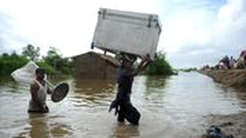 Hochwasser Flut Pakistan Naturkatastophe Monsun