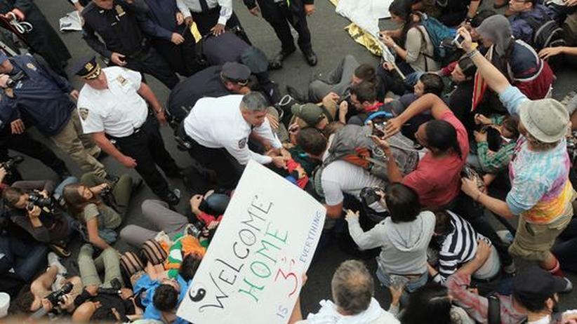 Occupy Wall Street: New Yorker Polizei nimmt Hunderte Demonstranten fest