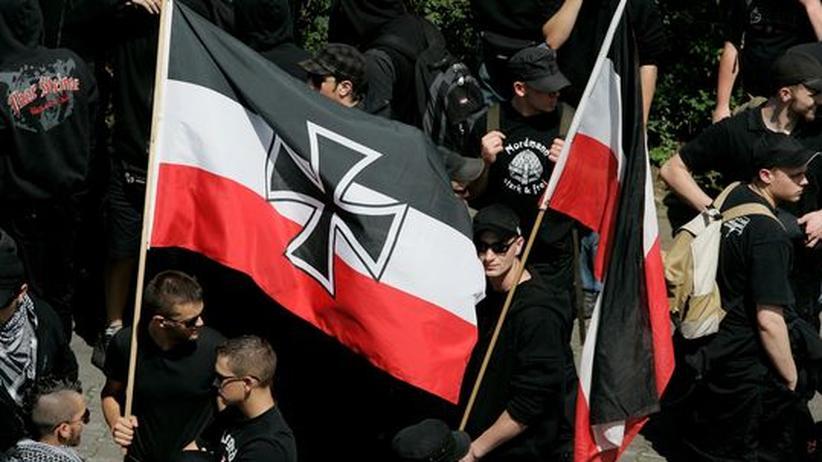 Rechtsterrorismus: Rechtsradikale demonstrieren in Frankfurt am Main. (Archivbild)