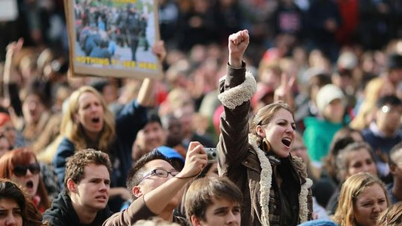 Occupy-Bewegung: Junge Menschen protestieren in Davis, California
