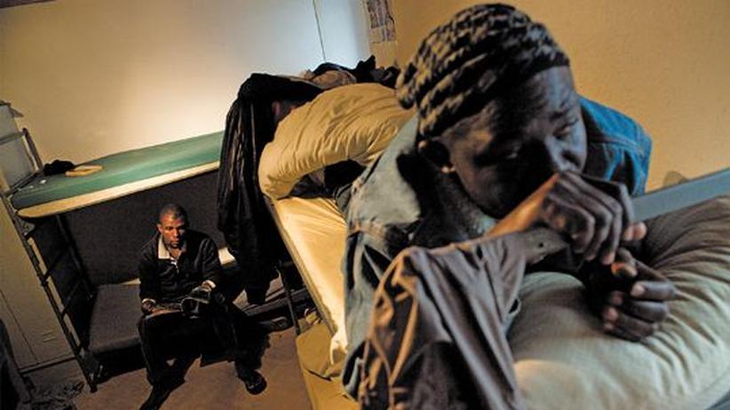 Asylbewerber: Asylbewerber im Nothilfezentrum Brünig in der Schweiz