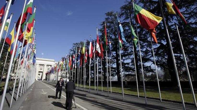 Expats in Genf: Vor dem UN-Gebäude in Genf