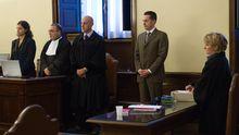 Paolo Gabriele (Zweiter von rechts) während der Urteilsverkündung