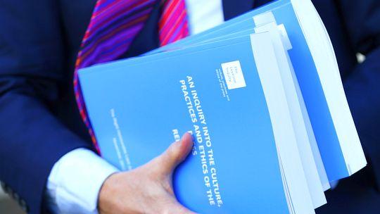 """Der Abschlussbericht der Untersuchungskommission zum Abhörskandal bei der britischen Boulevardzeitung """"News of the World"""""""