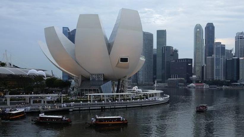 Singapur: Die Marina Bay in Singapur