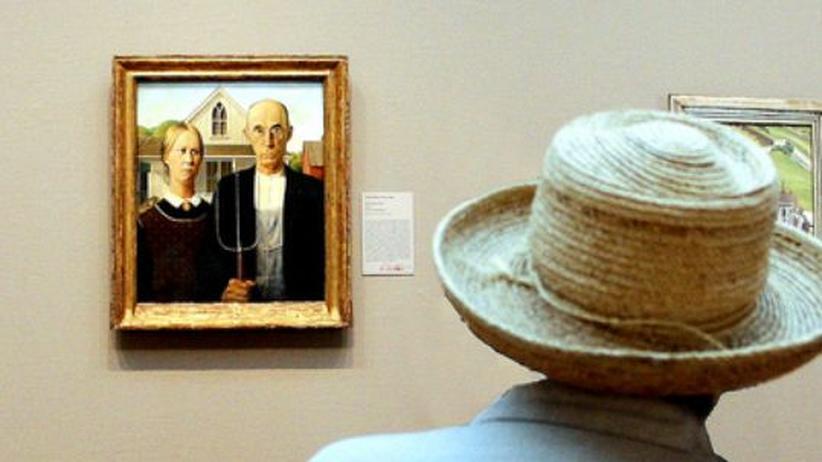 """Gerichtsurteil: Das Bild """"American Gothic"""" von Grant Wood wird oft als Sinnbild des puritanischen ländlichen Amerikas interpretiert. Das Haus auf dem Bild stand in Iowa."""